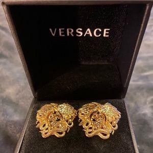 Authentic Versace Medusa Head Earrings